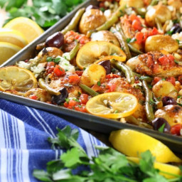 Greek Chicken with Green Beans and Feta