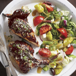 Greek-Inspired Grilled Cornish Game Hens