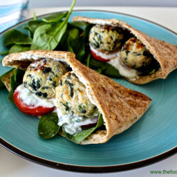Greek Meatball Pita Sandwiches