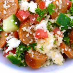 Greek Merguez Couscous Salad