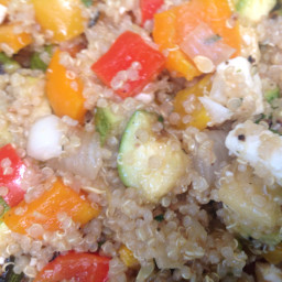 Greek quinoa salad with grilled vegetables