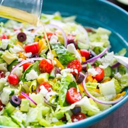 Greek Salad with Easy Zesty Dressing
