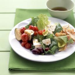 Greek Salad with Zucchini, Feta, and Tomatoes