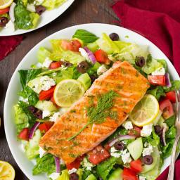 Greek Salmon Salad