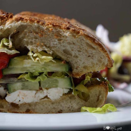 Greek Stuffed Croutons Vegetarian Sandwich