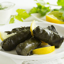 Greek Stuffed Grapevine Leaves – Dolmathes Recipe