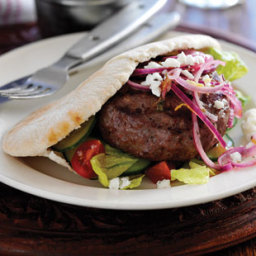 Greek-style burgers recipe