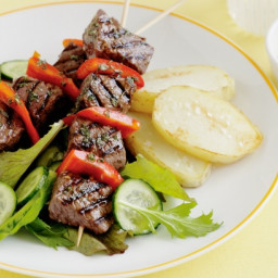Greek-Style Lamb Skewers with Lemon and Garlic