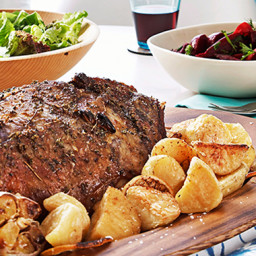 Greek style Roast Lamb with Potatoes
