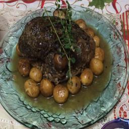 Greek Style Roast Lamb with Potatoes