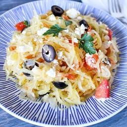 Greek Style Spaghetti Squash
