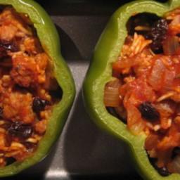 Greek style stuffed peppers