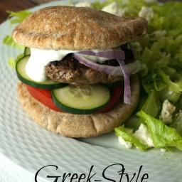 Greek-Style Gyro Burgers