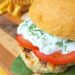 Greek Turkey Burgers with Creamy Tzatziki Sauce