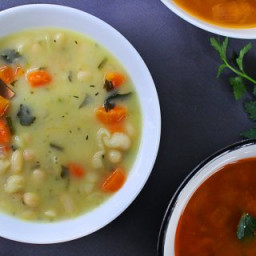 Greek White Bean Soup (fasolada) with Lemon