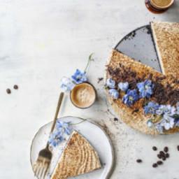 Greek Yogurt Vanilla Espresso Cheesecake
