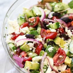 Greek Salad with Avocado
