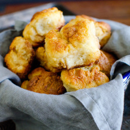 Greek Yogurt Buttermilk Biscuits with Honey Butter