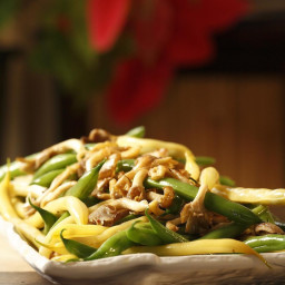 Green and Yellow Beans with Wild Mushrooms
