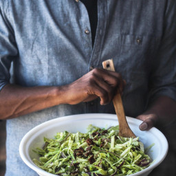 Green Apple Celery Slaw with Candied Pecans