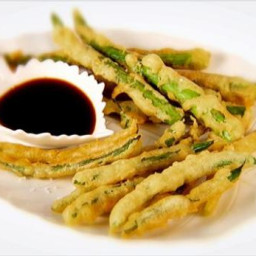 Green Bean and Asparagus Tempura