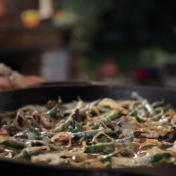 Green Bean Casserole with Homemade Mushroom Gravy
