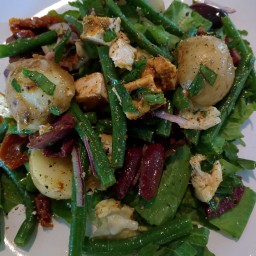 Green Bean, Potato and Chicken Salad