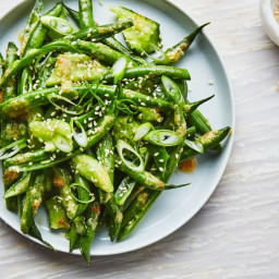 Green Beans and Cucumbers with Miso Dressing