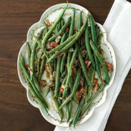Green Beans and Pancetta with Whole-Grain Mustard Dressing