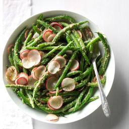 Green Beans and Radish Salad with Tarragon Pesto Recipe