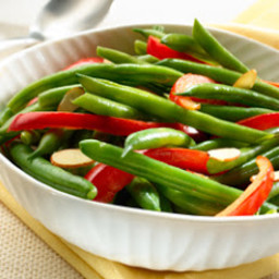 Green Beans and Red Peppers with Almonds