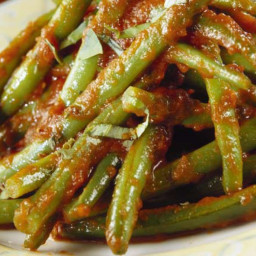 Green Beans In Tomato Sauce Greek Tradition