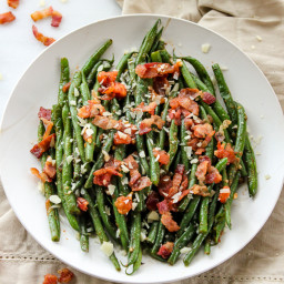 Green Beans with Tomato and Bacon