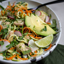 Green Chicken Zoodle Bowl