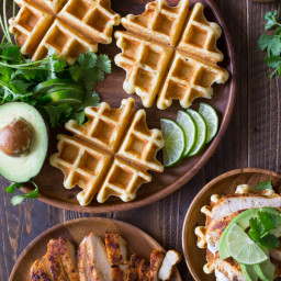 Green Chili Chicken Waffletada
