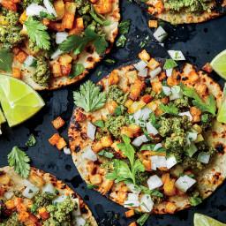 Green Chorizo and Potato Tacos