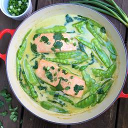 Green Curry Braised Salmon Recipe