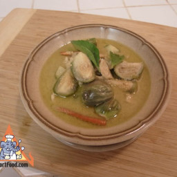 Green Curry with Fresh Chile, Chicken, Eggplant and Kaffir Lime, 'Gaeng Khi