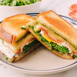 Green Eggs and Ham Grilled Cheese