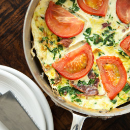 Green Eggs + Prosciutto Frittata