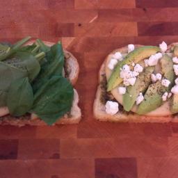 Green garden grill cheese sandwich