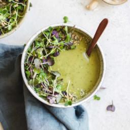 Green goddess broccoli soup