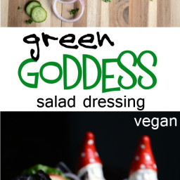 Green Goddess Dressing with Avocado and Hemp Seeds