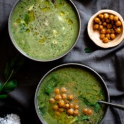 Green Goddess Herb Soup {Gluten Free, Low Carb and Dairy Free Option}