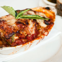 Green Lasagna with Bolognese Sauce and Bechamel