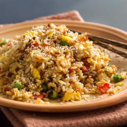 Green Pea Rice Pilaf (Vegan)