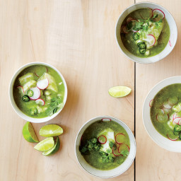Green Posole with Cod and Cilantro
