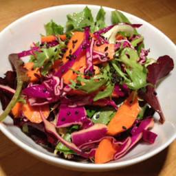 Green Salad with Sesame Ginger Vinaigrette