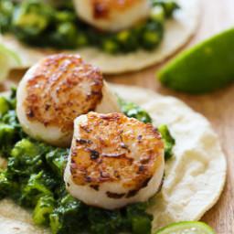 Green Scallop Tacos