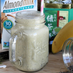 Green Tea Chia Smoothie Recipe (Vegan, Dairy-free, Clean-Eating)